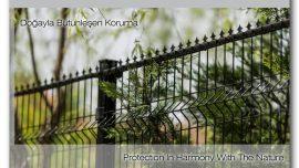 Mızraklı panel çit